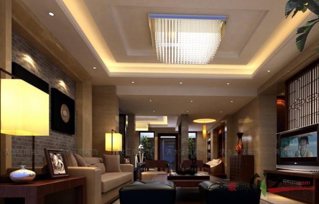 296平米别墅中式风格家装装修图片设计-张家港齐装网