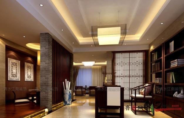 296平米別墅中式風格家裝裝修圖片設計-太倉齊裝網