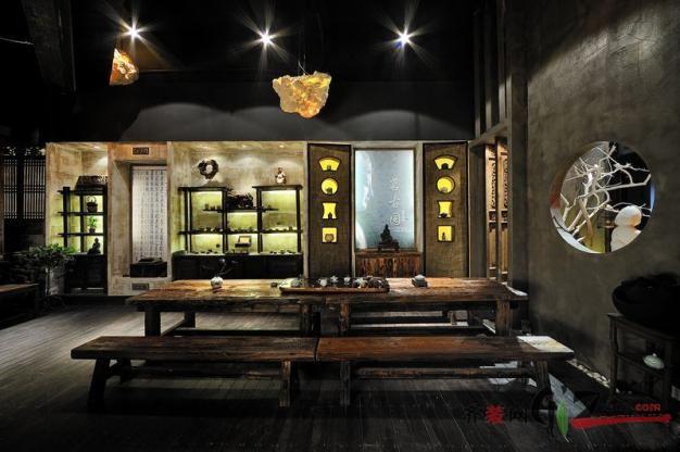 平江路茗古园茶馆现代简约装修效果图实景图