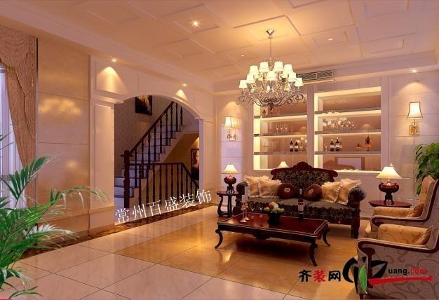 250平米别墅欧式风格家装装修图片设计-常州齐装网