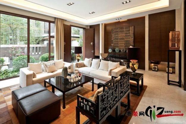 260平米别墅中式风格家装装修图片设计-襄阳齐装网
