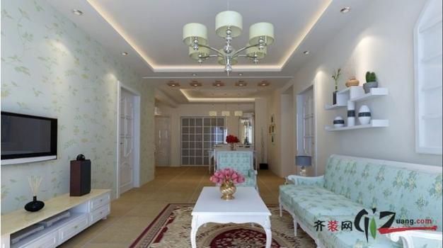 兰园公寓地中海风格装修效果图实景图
