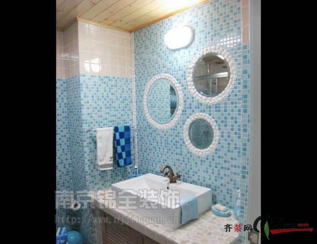 南京名城世家地中海风格70平米普通户型现代简约家装