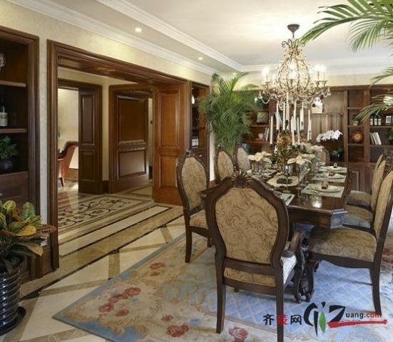 280平米别墅古典风格家装装修图片设计-南京齐装网