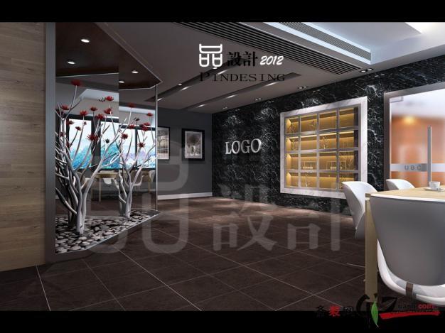 怡康机电城办公室现代简约装修效果图实景图