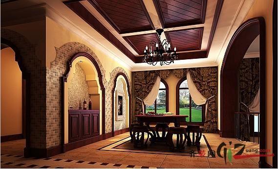 400平米别墅欧式风格家装装修图片设计-无锡齐装网