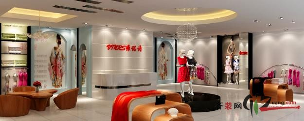 服裝店現代簡約裝修效果圖實景圖