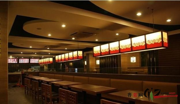 餐点面馆现代简约装修效果图实景图