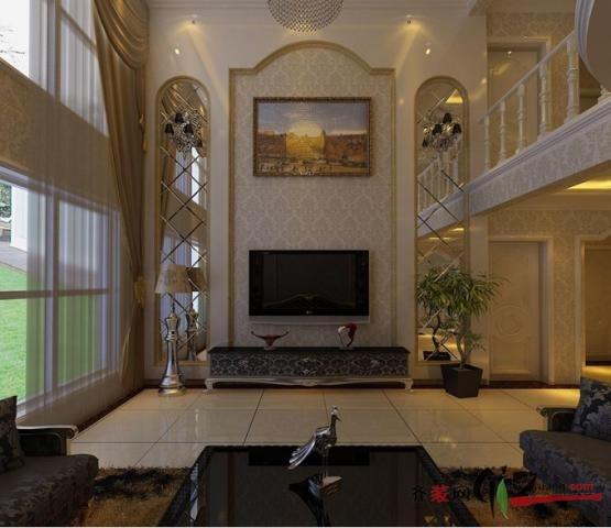 268平米复式户型欧式风格家装装修图片设计-济南齐装