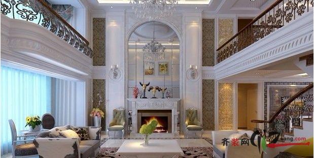 万科长风别墅169平米复式户型欧式风格家装装修图片