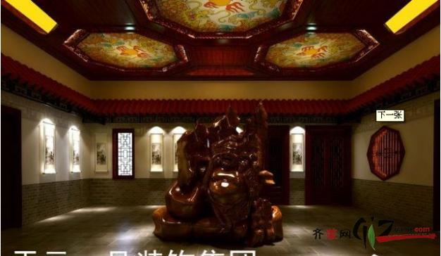 吾湖四海中式茶楼古典风格装修效果图实景图