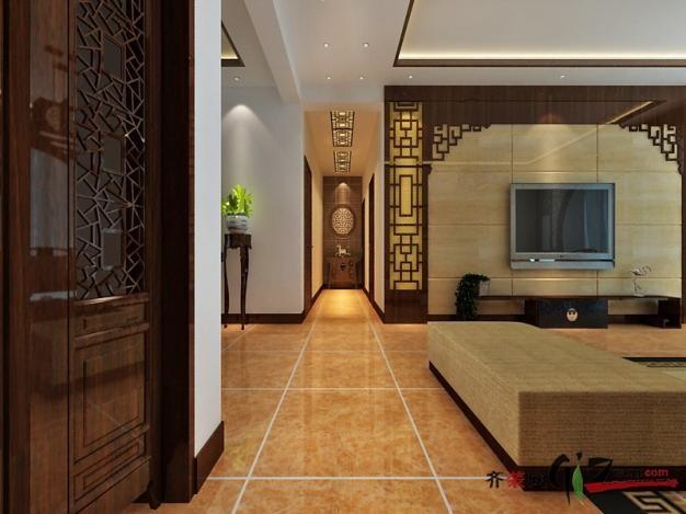 160平米普通户型中式风格家装装修图片设计-济南齐装