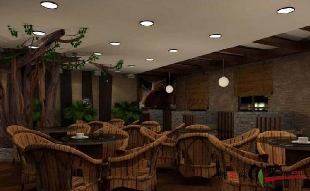 咖啡厅现代简约装修效果图实景图