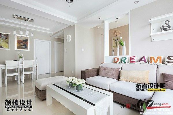 108平米普通户型现代简约家装装修图片设计-上海齐装