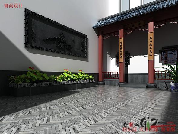 怡沁园别墅中式风格装修效果图实景图