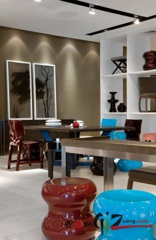 HC28家具展厅现代简约装修效果图实景图