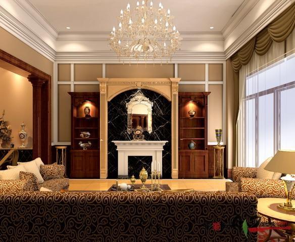 300平米别墅欧式风格家装装修图片设计-武汉齐装网