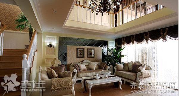 312平米别墅欧式风格家装装修图片设计-南京齐装网