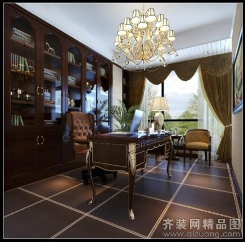 350平米别墅欧式风格家装装修图片设计-常州齐装网