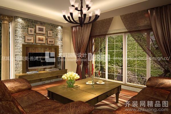 520平米别墅美式风格家装装修图片设计-松江齐装网