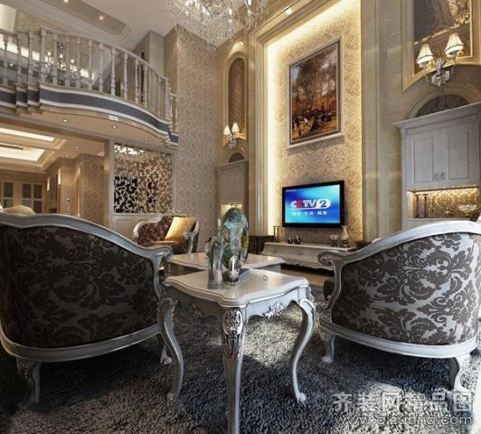500平米别墅欧式风格家装装修图片设计-昆山齐装网