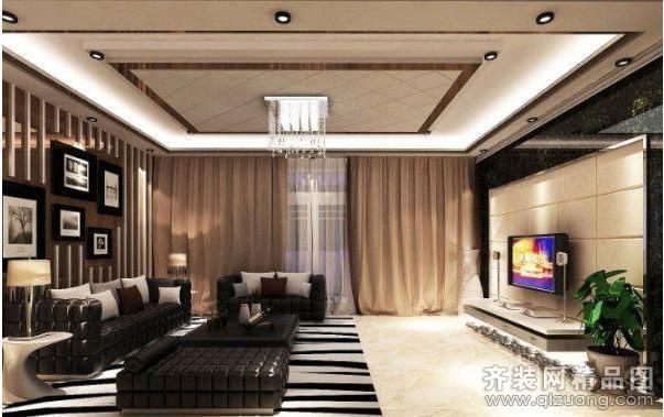 120平米普通户型现代简约家装装修图片设计-济南齐装