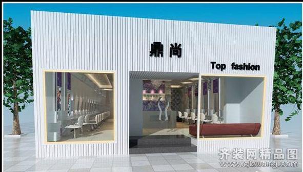 鼎尚美发店95平米普通户型现代简约家装装修图片设计