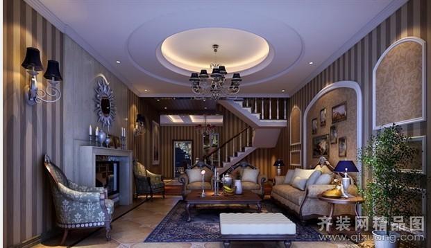 128平米复式户型欧式风格家装装修图片设计-张家港齐