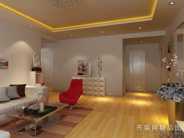 130平米普通户型现代简约家装装修图片设计-济南齐装