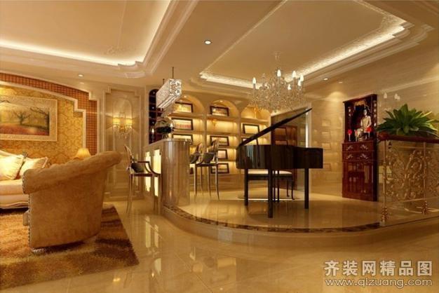 200平米别墅欧式风格家装装修图片设计-徐州齐装网