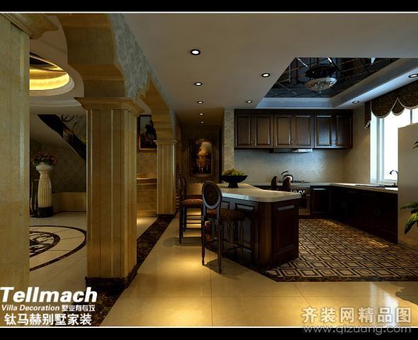 520平米别墅美式风格家装装修图片设计-济南齐装网
