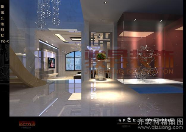 新城公馆别墅T55-C现代简约装修效果图实景图
