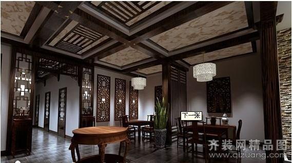茶楼中式风格装修效果图实景图