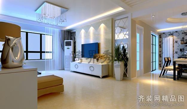 160平米普通户型现代简约家装装修图片设计-济南齐装