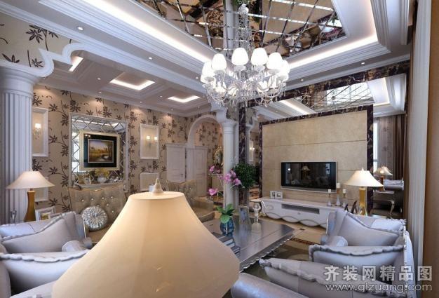 280平米别墅欧式风格家装装修图片设计-无锡齐装网