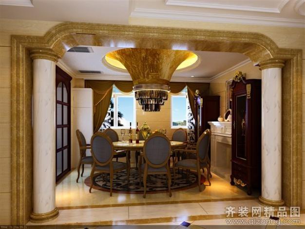 260平米别墅中式风格家装装修图片设计-张家港齐装网