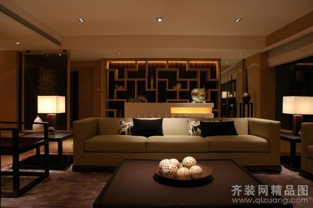 中式风格现代简约装修效果图实景图