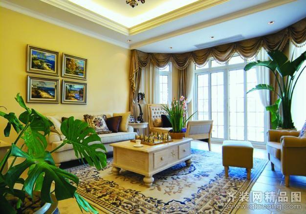 新湖明珠城欧式风格装修效果图实景图