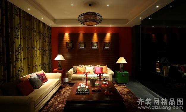 520平米别墅中式风格家装装修图片设计-江门齐装网