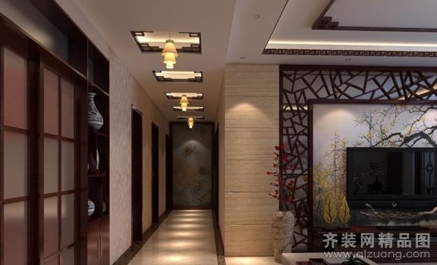 中式装饰风格客厅现代简约装修效果图实景图