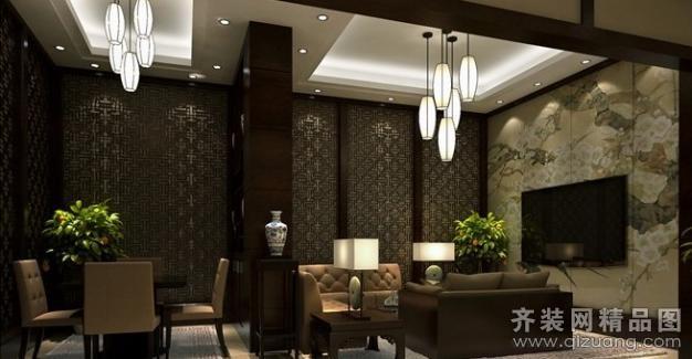 1000平米普通户型中式风格家装装修图片设计-南京齐