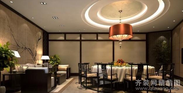 餐厅贵宾大包厢中式风格装修效果图实景图