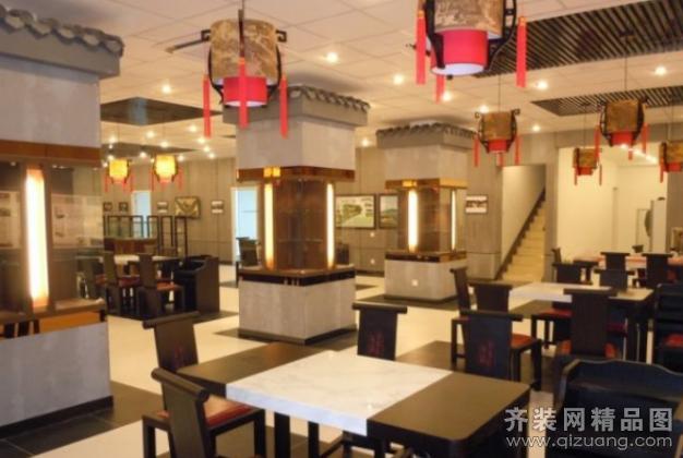 全国连锁天福天美茶楼现代简约装修效果图实景图