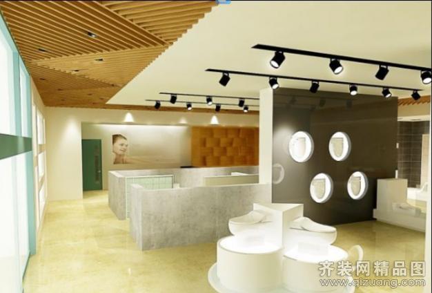 城阳韩国亿纳斯展厅现代简约装修效果图实景图