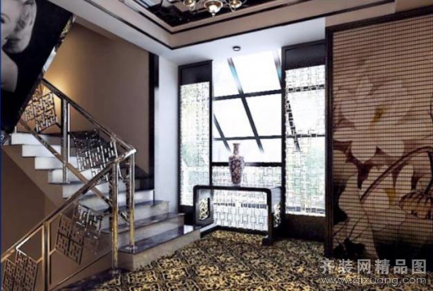 八大关酒店中式风格装修效果图实景图