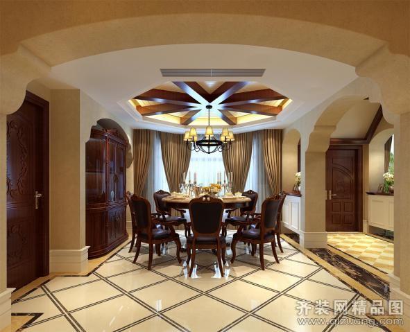 500平米别墅欧式风格家装装修图片设计-宁波齐装网