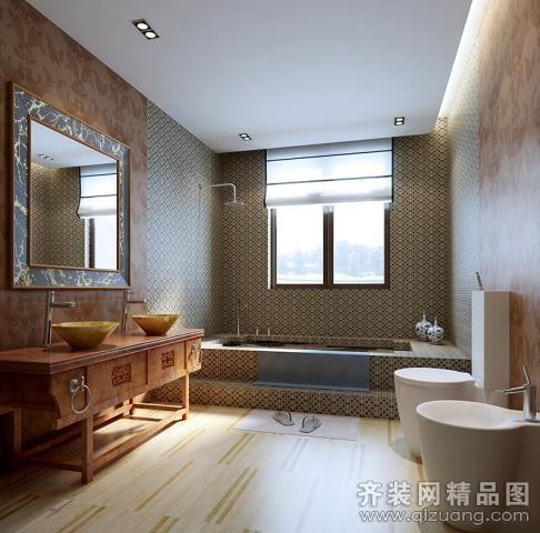 320平米别墅现代简约家装装修图片设计-天津齐装网