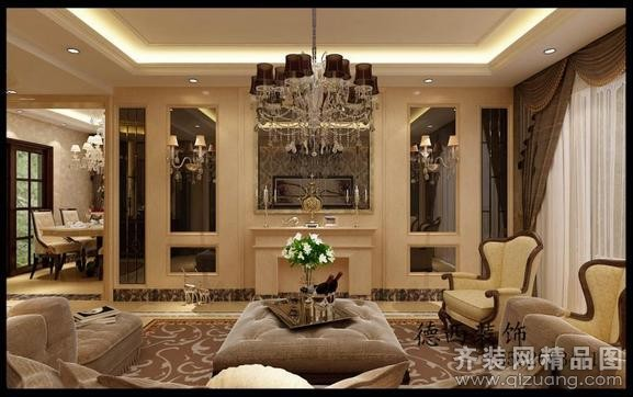 中海别墅欧式风格装修效果图实景图