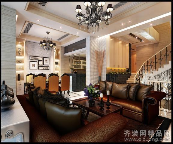 320平米跃层户型欧式风格家装装修图片设计-杭州齐装