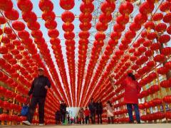 2013年通灌中路春节环境渲染
